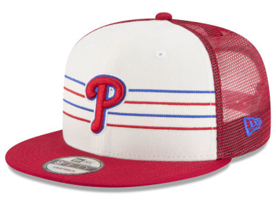 Philadelphia Phillies New Era MLB Vintage Stripe 9FIFTY Snapback Cap
