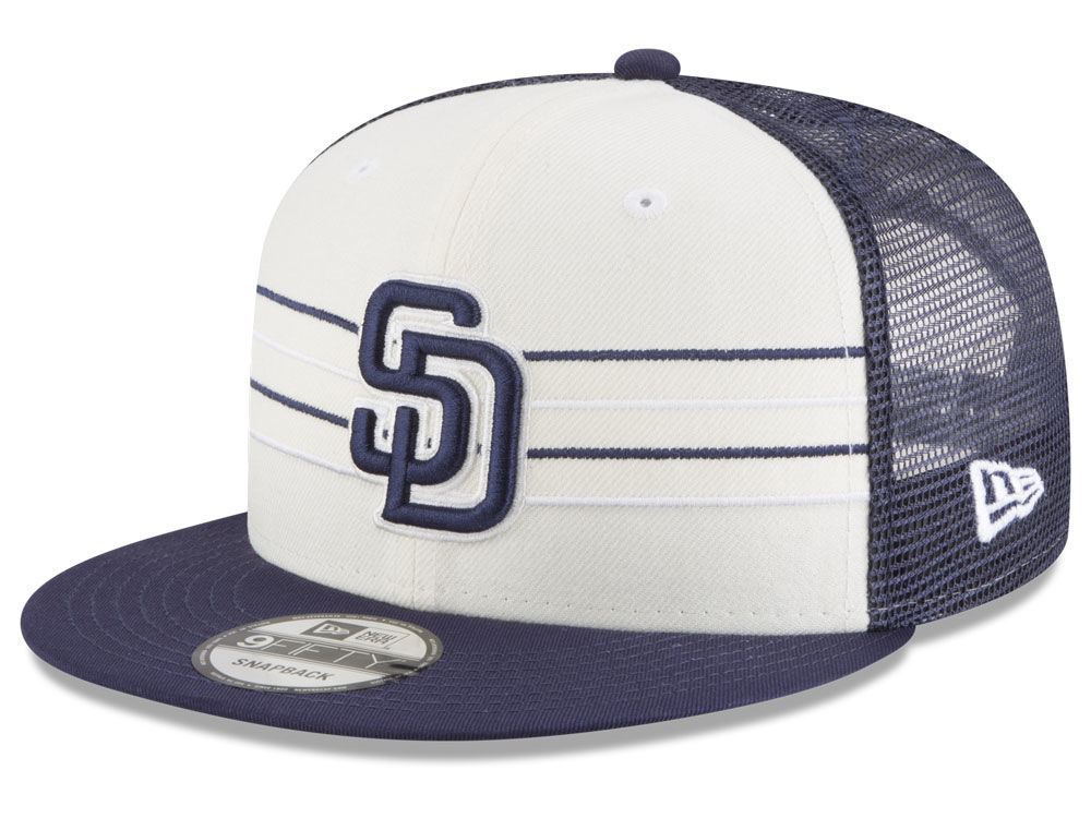 the latest 85866 a0604 ... where to buy san diego padres new era mlb vintage stripe 9fifty  snapback cap lids 597e8