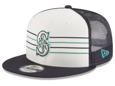 Seattle Mariners New Era MLB Vintage Stripe 9FIFTY Snapback Cap