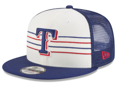Texas Rangers New Era MLB Vintage Stripe 9FIFTY Snapback Cap