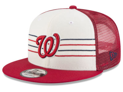 Washington Nationals New Era MLB Vintage Stripe 9FIFTY Snapback Cap