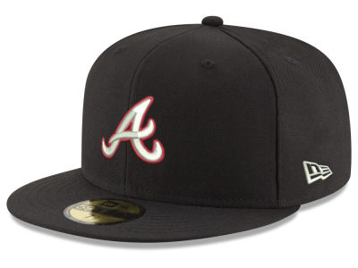 Atlanta Braves New Era MLB Black Red Out 59FIFTY Cap
