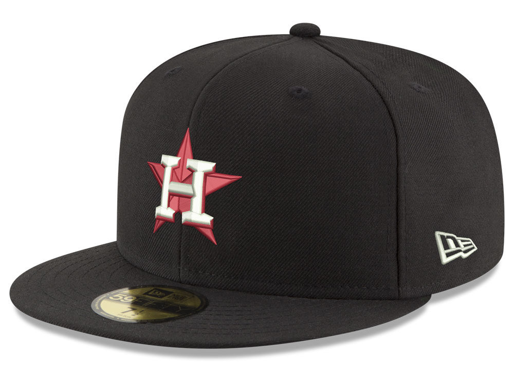 Houston Astros New Era MLB Black Red Out 59FIFTY Cap  41656f2e7a0