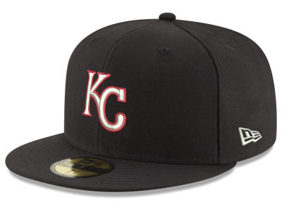 Kansas City Royals New Era MLB Black Red Out 59FIFTY Cap