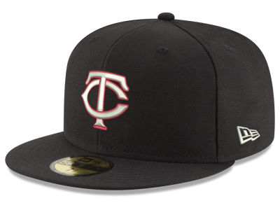 Minnesota Twins New Era MLB Black Red Out 59FIFTY Cap