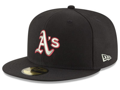 Oakland Athletics New Era MLB Black Red Out 59FIFTY Cap