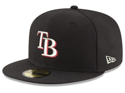 Tampa Bay Rays New Era MLB Black Red Out 59FIFTY Cap