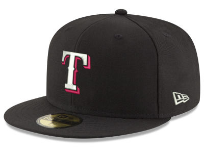 Texas Rangers New Era MLB Black Red Out 59FIFTY Cap