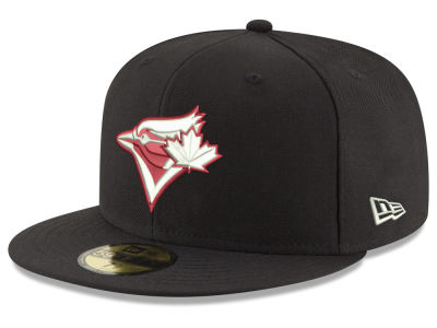 Toronto Blue Jays New Era MLB Black Red Out 59FIFTY Cap