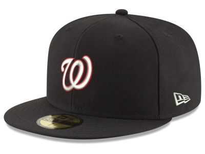 Washington Nationals New Era MLB Black Red Out 59FIFTY Cap