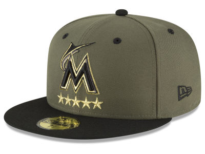 Miami Marlins New Era MLB 5-Star 59FIFTY Cap