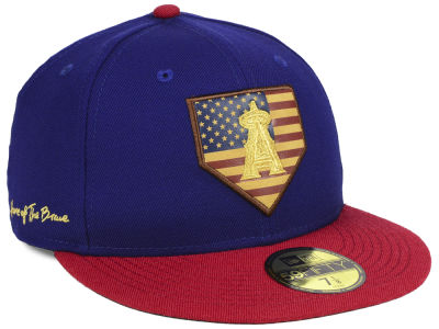 Los Angeles Angels New Era MLB Home Of The Brave 59FIFTY Cap