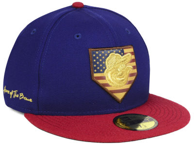 Baltimore Orioles New Era MLB Home Of The Brave 59FIFTY Cap