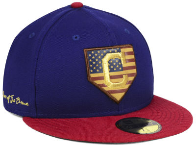 Cleveland Indians New Era MLB Home Of The Brave 59FIFTY Cap