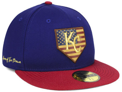 Kansas City Royals New Era MLB Home Of The Brave 59FIFTY Cap