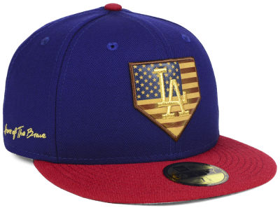Los Angeles Dodgers New Era MLB Home Of The Brave 59FIFTY Cap