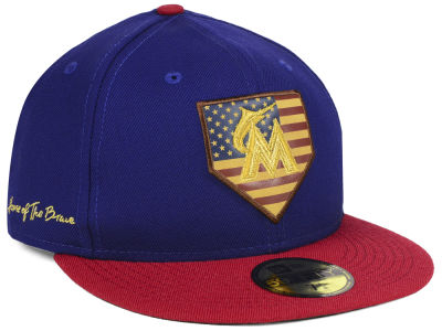 Miami Marlins New Era MLB Home Of The Brave 59FIFTY Cap