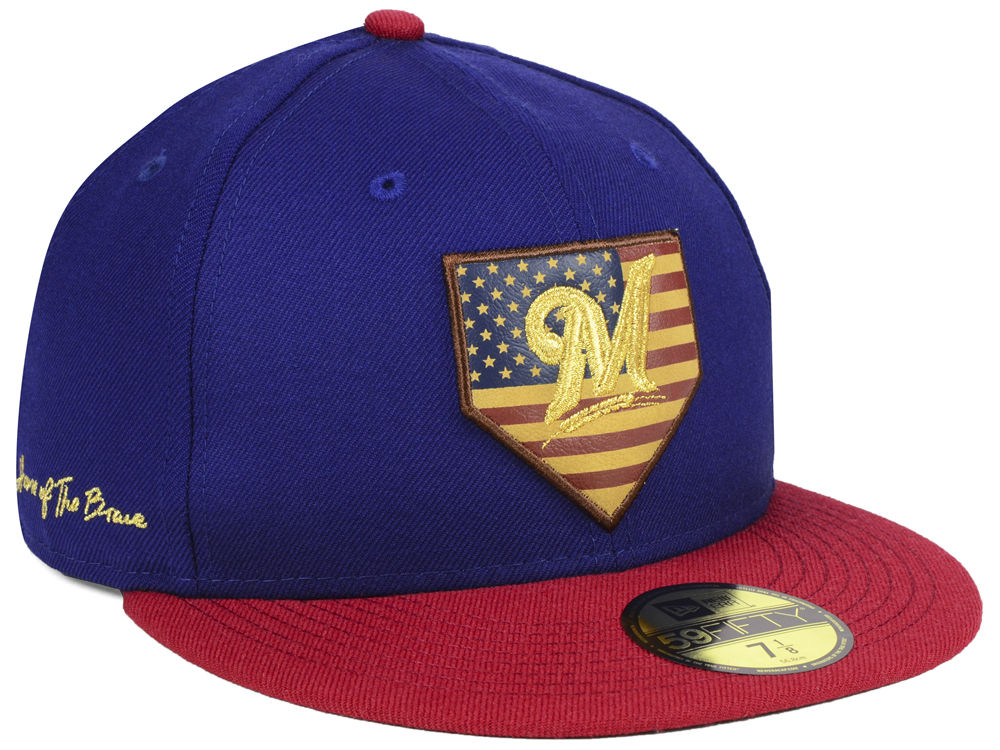 reputable site 1fe60 82e12 ... patch 59fifty fitted hat 0a0b3 05a6c  netherlands milwaukee brewers new era  mlb home of the brave 59fifty cap 1b8d1 abdaf