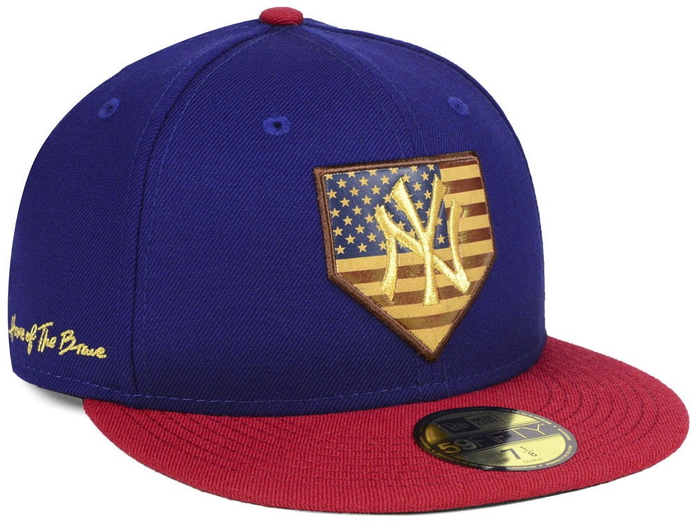 c9e2dd0a6fc ... real new york yankees new era mlb home of the brave 59fifty cap 11a58  86573
