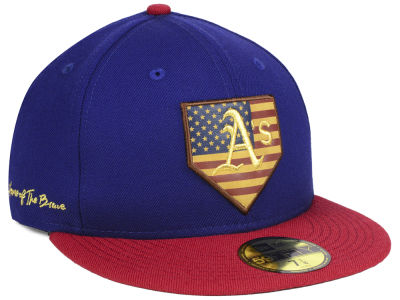 Oakland Athletics New Era MLB Home Of The Brave 59FIFTY Cap