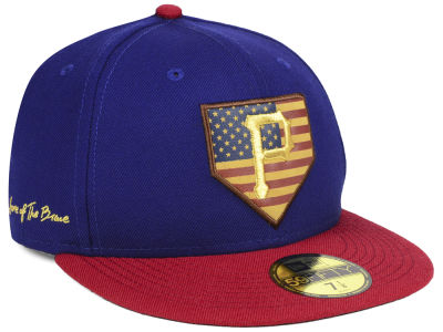 Pittsburgh Pirates New Era MLB Home Of The Brave 59FIFTY Cap