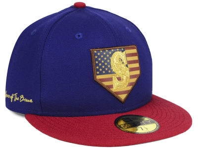 Seattle Mariners New Era MLB Home Of The Brave 59FIFTY Cap