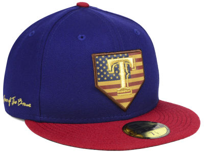 Texas Rangers New Era MLB Home Of The Brave 59FIFTY Cap