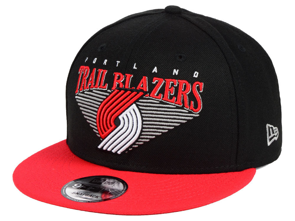 60910af3b37 Portland Trail Blazers New Era NBA Retro Triangle 9FIFTY Snapback ...