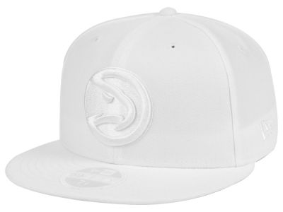 Atlanta Hawks New Era NBA All White 59FIFTY Cap