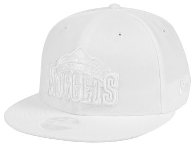 Denver Nuggets New Era NBA All White 59FIFTY Cap