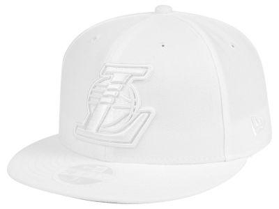 pretty nice 6f02c 3670c Los Angeles Lakers New Era NBA All White 59FIFTY Cap