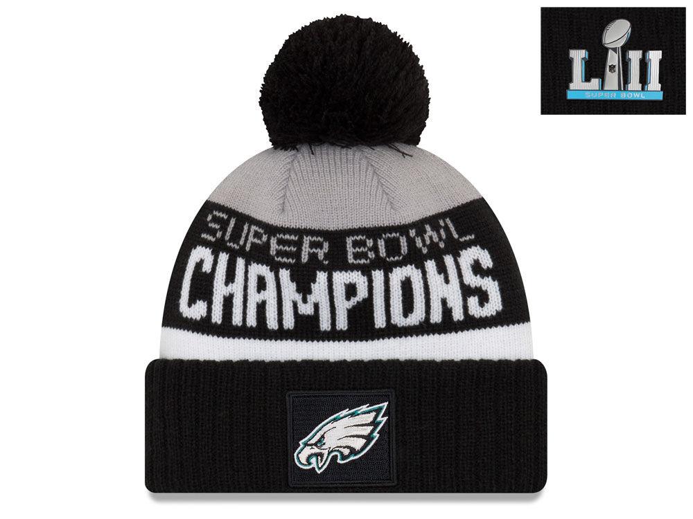 Philadelphia Eagles New Era NFL Super Bowl LII Champ Parade Pom Knit ... 336784f50