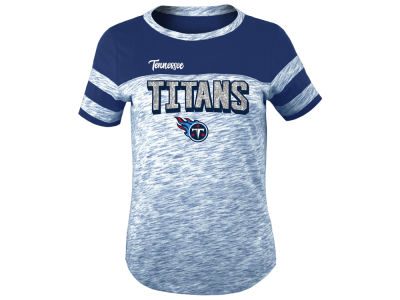 Tennessee Titans 5th & Ocean NFL Youth Girls Space Dye Glitter T-Shirt