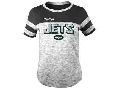 New York Jets 5th & Ocean NFL Youth Girls Space Dye Glitter T-Shirt