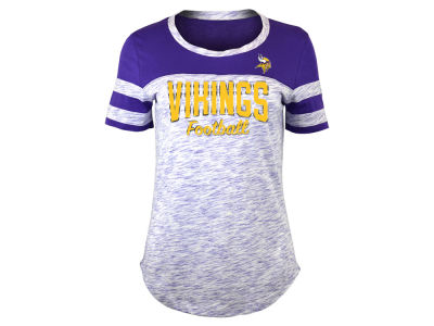 Minnesota Vikings 5th & Ocean NFL Women's Space Dye T-Shirt