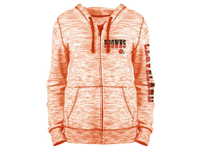 Cleveland Browns 5th & Ocean NFL Women's Space Dye Full Zip Hoodie