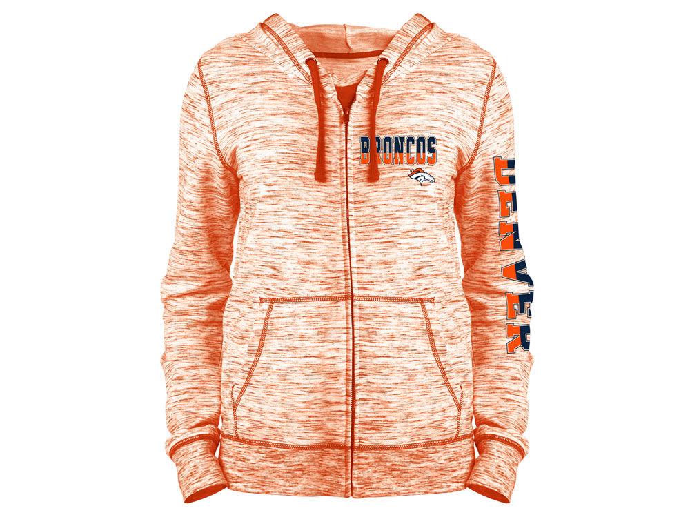 Denver Broncos 5th   Ocean NFL Women s Space Dye Full Zip Hoodie ... 268100c78