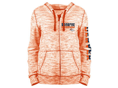 Denver Broncos 5th & Ocean NFL Women's Space Dye Full Zip Hoodie