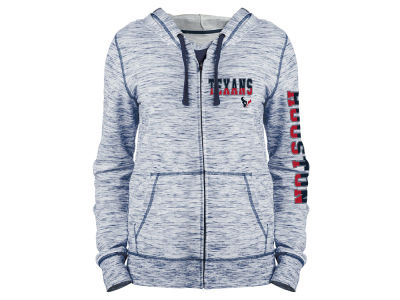 Houston Texans 5th & Ocean NFL Women's Space Dye Full Zip Hoodie