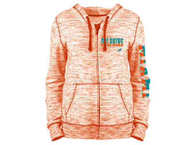 Miami Dolphins 5th & Ocean NFL Women's Space Dye Full Zip Hoodie
