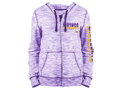 Minnesota Vikings 5th & Ocean NFL Women's Space Dye Full Zip Hoodie