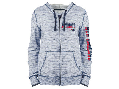 New England Patriots 5th & Ocean NFL Women's Space Dye Full Zip Hoodie