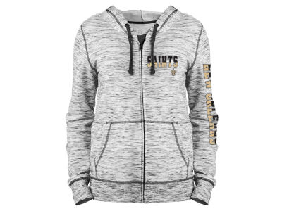New Orleans Saints 5th & Ocean NFL Women's Space Dye Full Zip Hoodie