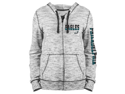 Philadelphia Eagles 5th & Ocean NFL Women's Space Dye Full Zip Hoodie