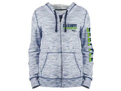 Seattle Seahawks 5th & Ocean NFL Women's Space Dye Full Zip Hoodie