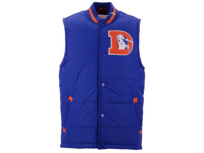 Denver Broncos Mitchell & Ness NFL Men's Amazing Catch Varsity Vest w/Gold Pin