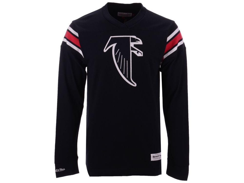 Atlanta Falcons Mitchell   Ness NFL Men s Team Captain V-Neck Long Sleeve T- Shirt  9ca91fbc7