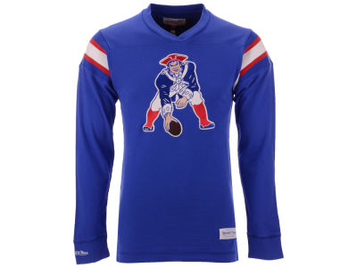 New England Patriots Mitchell & Ness NFL Men's Team Captain V-Neck Long Sleeve T-Shirt