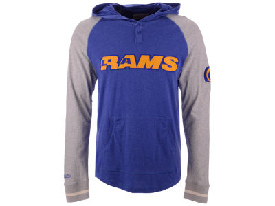 5442c94c9 Los Angeles Rams Mitchell   Ness NFL Men s Slugfest Lightweight Hooded Long  Sleeve T-shirt
