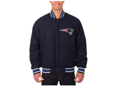 New England Patriots JH Design NFL Men's Wool Embroidered Jacket
